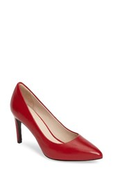 Cole Haan Women's 'Eliza Grand. Os' Pointy Toe Pump Tango Red Leather
