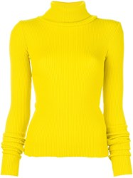 Jacquemus Slit Cuff Jumper Yellow Orange