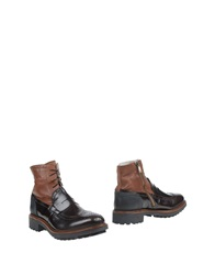 Frankie Morello Ankle Boots Dark Brown