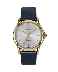 Emporio Armani Swiss Made Light Gold Ion Plated Watch 42Mm