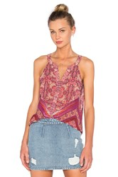 Sanctuary Border Shell Tank Pink