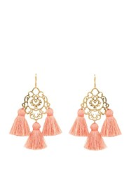 Marte Frisnes Rita Tassel Earrings Light Pink