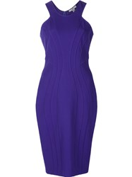Zac Posen Fitted Dress Blue