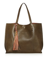 Carlos By Carlos Santana Leslie Reversible Pocket Tote Compare At 98 Olive Cognac