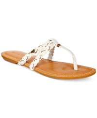 Roxy Giza Braided Thong Sandals Women's Shoes White
