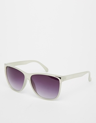 Pieces Jill Square Sunglasses Silver