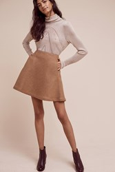 Anthropologie Morley Mini Skirt Beige