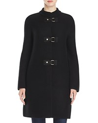 Tory Burch Ross Merino Wool Sweater Coat Black
