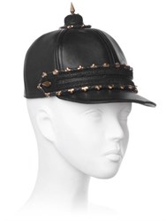 House Of Malakai Leather Equestrian Hat With Spike