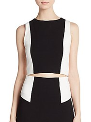 Alice Olivia Colorblock Crop Top Blk Wht