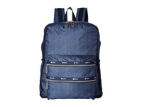 Le Sport Sac Functional Backpack Herringbone Blue Backpack Bags