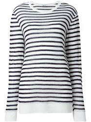 T By Alexander Wang Striped T Shirt Black