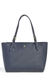Tory Burch 'Small York' Saffiano Leather Buckle Tote Blue Tory Navy