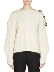 Acne Studios Oversized Button Detail Sweater Off White