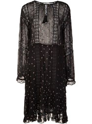 Ulla Johnson Printed Peasant Dress Black