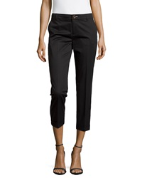 J Brand Ready To Wear Rolled Cuff Crop Trousers Black