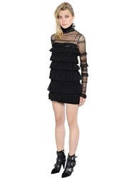 Isabel Marant Ruffled Tulle And Lace Dress
