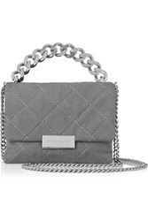 Stella Mccartney Soft Beckett Small Quilted Faux Suede Shoulder Bag