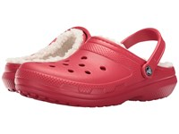 Crocs Classic Lined Clog Pepper Oatmeal Clog Shoes Red