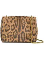 Jerome Dreyfuss Leopard Print Crossbody Bag Nude And Neutrals