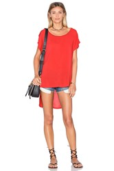 Splendid Hi Low Tee Red