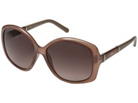 Chloe Daisy Rectangle Light Brown Fashion Sunglasses