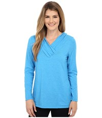 Royal Robbins Essential Tencel Sun Cover Top Abyss Blue Women's Long Sleeve Pullover