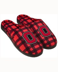 Forever Collectibles Ohio State Buckeyes Flannel Slide Slippers Red