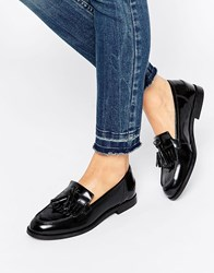 Oasis Leather Patent Loafer Black