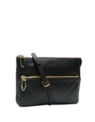 Tusk Donington Leather Double Gusset East West Bag Black