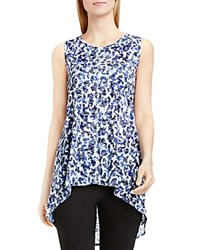 Vince Camuto Two By Camtuo Abstract Animal Print Burnout Tank Optic Blue