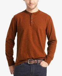 G.H. Bass And Co. Men's Big And Tall Long Sleeve Henley Saffron Spice