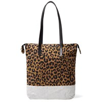 Dries Van Noten Leopard Tote Brown