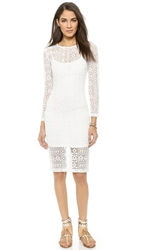 J.O.A. Lady Lace Dress White