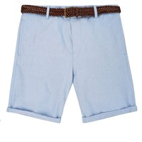 River Island Mens Light Blue Belted Chino Shorts