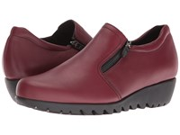 Munro American Napoli Red Leather Women's Slip On Shoes