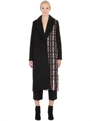 Edun Cashmere Blend Cloth And Jacquard Coat