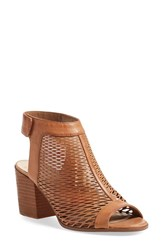 Women's Vince Camuto 'Lavette' Perforated Peep Toe Bootie 3' Heel