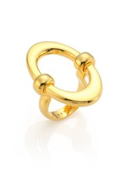 Maiyet Orbit Oval Ring Gold