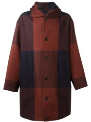 Cini Checked Coat Red