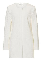 Betty Barclay Long Textured Jacket Off White