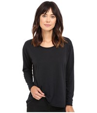 Hurley Staple Dri Fit Racer Long Sleeve Top Black Women's Long Sleeve Pullover