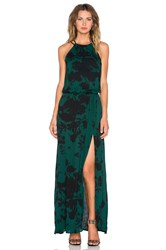 Karina Grimaldi Negra Maxi Dress Green