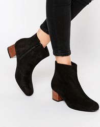 Truffle Collection Luan Tortoiseshell Mid Heeled Ankle Boots Black Micro