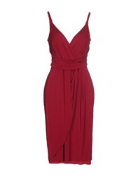 Antonio Fusco Dresses Knee Length Dresses Women Garnet