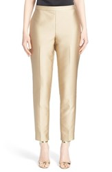 Women's St. John Collection 'Emma' Duchesse Satin Crop Pants