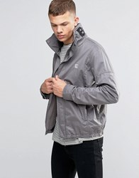 Bench Funnel Neck Jacket In Grey Grey