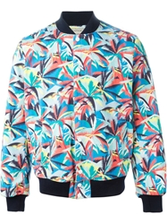 Maison Kitsune Maison Kitsune 'Teddy Jungle' Jacket Blue