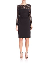 David Meister Jersey And Sequin Cocktail Dress Black