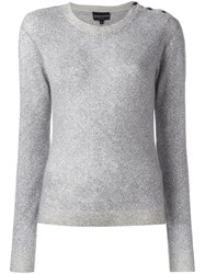 Emporio Armani Side Button Sweater Grey